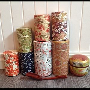 Washi Paper covered Loose Tea Tins